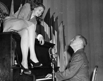 Bacall and some old politician