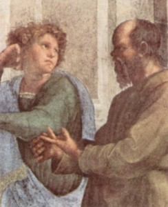 Socrates and Aeschines, by Raffael